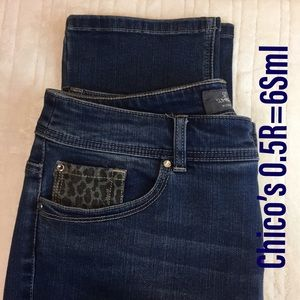 Chico's ankle jeans 0.5R=6 Sml